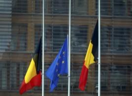 Zastave na pola koplja u Briselu